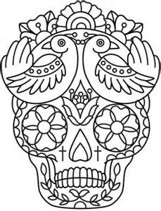 SKULL pattern colouring pages (page 2)