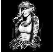 Marilyn Shirt Respect Gun Tats Bandana Monroe T Gangster