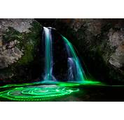 Escape Monday Neon Waterfalls  Thems Fightin Words
