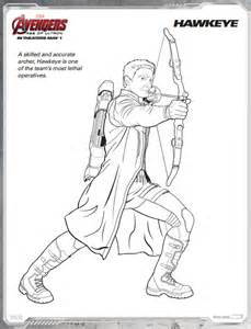 HawkEye Avengers Age of Ultron Free Coloring Page Free Printable