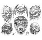 Demon And Skulls Tattoo Designs Alien