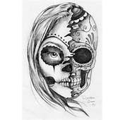Sugar Skull Black Grey Drawings Tattoos