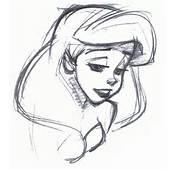 Walt Disney Characters Sketches  Princess Ariel