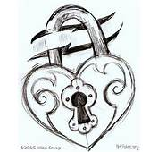 Heart LockThis Is Just A Sketch For Simple Tattoo Idea