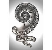 Time Waits For No Man  Tattoo Design By Mortar Girl