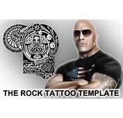 The Rock Tattoo Stencil