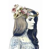 Tumblr Static Art Artist Black And White Colourfull Del Rey Draw