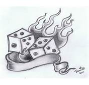 Dice Drawings Fire And By Xmidna