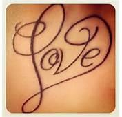 Home Tattoo Ideas Love Writing Idea