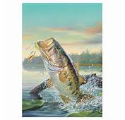 Wildlife Welcome Flag  Large Mouth Bass
