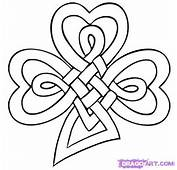 How To Draw A Celtic Clover Knot Step By St Patricks Day