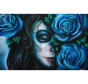Rose Tattoos With Skull  Girl Blue Free Download Tattoo