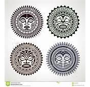 Set Of Polynesian Tattoo Styled Masks Stock Photography  Image
