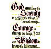 Serenity Prayer B Rec