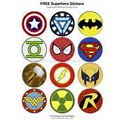 Superhero Logos Printable These Stickers