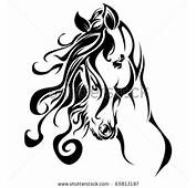 Tribal Horse Head Clip Art Stock Vector Portrait 65813197