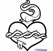 How To Draw A Sacred Heart Step By Tattoos Pop Culture FREE