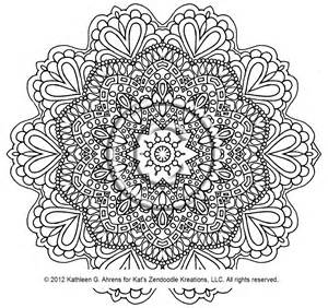 Intricate Mandala Coloring Pages Coloring Sheets On Etsy A Global ...