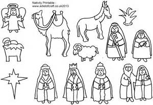nativity shepherds colouring pages