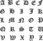 Old English Machine Embroidery Font Set  Daily