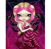 Pink Lightning GOTHIC FAIRY ART PRINT JASMINE BECKET GRIFFITH