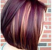 Blonde And Dark Purple Highlights With