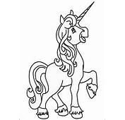 Unicorn Girl Coloring Page