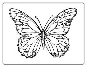 cute printable butterfly colouring pages for kids - Coloring Point
