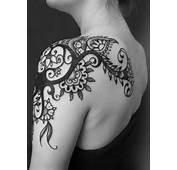 Floral Shoulder Tattoo For Women  Tattoos Mob