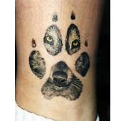 Cool Wolf Paw &amp Face Tattoo
