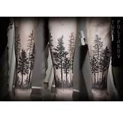 This Tree Tattoo Almost Looks Like A Black And White Photograph Of