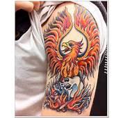 34 Daring Phoenix Tattoo Designs For Men