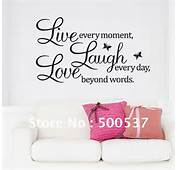 Free Shipping Font Live Laugh Love Wall