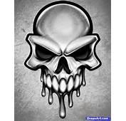 How To Draw A Skull Head Tattoo Step By Skulls Pop