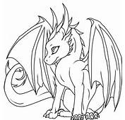 Baby Dragons Coloring Pages For Kids 2014 Printable