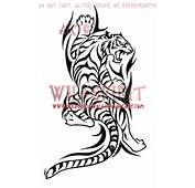 Climbing Tribal Tiger Tattoo By WildSpiritWolf