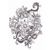 Tattoo Sleeve Sketches Roses Cool Images Skull Half Tattoos