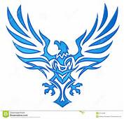 Blue Flame Eagle Tattoo Royalty Free Stock Image  20132696