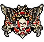 Skulls And Wings Skull American Biker