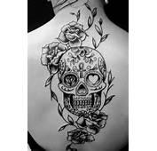 Black And Grey Sugar Skull Tattoo  Tattoos