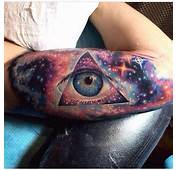 Outer Space Theme Tattoo Cool Eye