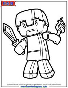 Minecraft Herobrine Coloring Page | H & M Coloring Pages