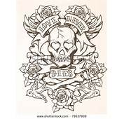 Nautical Tattoos Jolly Roger Skull Crossb  Black Rose