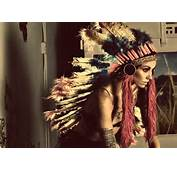 Feathers Girl Indian Native American Tattoos  Image 279996 On