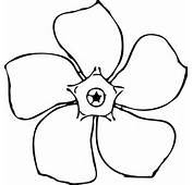 Periwinkle Flower Top View Clip Art At Clkercom  Vector