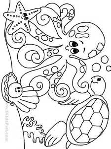 Ocean Animals Coloring Pages ocean animals coloring pages preschool ...