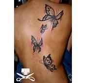 Black Butterfly Shoulder Tattoos
