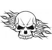 Human Skull With Flames  Vector Colourbox