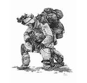 Praying Soldier Drawing