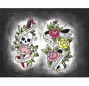 Skull Dagger Rose And Heart By Greenday75 On DeviantArt